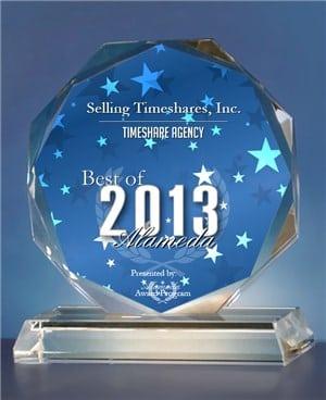 2013 Best of Alameda Timeshare Agency