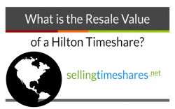 What's the resale value of hilton timeshares?