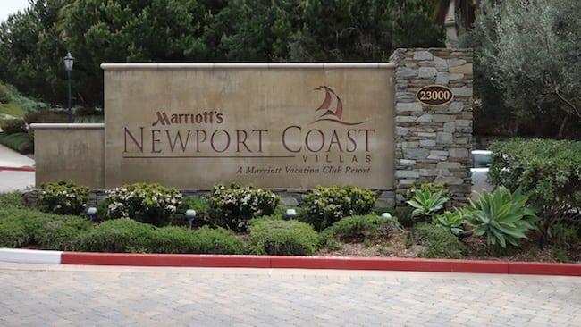 Marriott Newport Coast Entrance