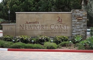 Marriott Newport Coast Entrance