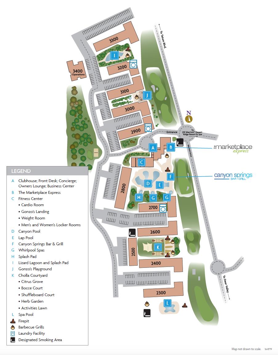 Marriott's Canyon Villas Resort Map