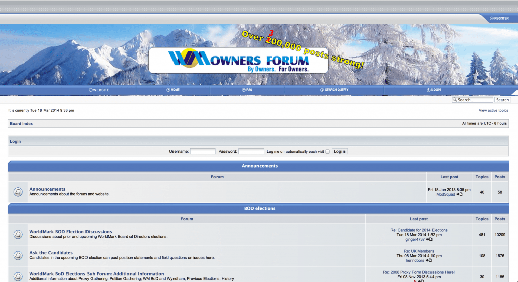 WMOwners Forum Update