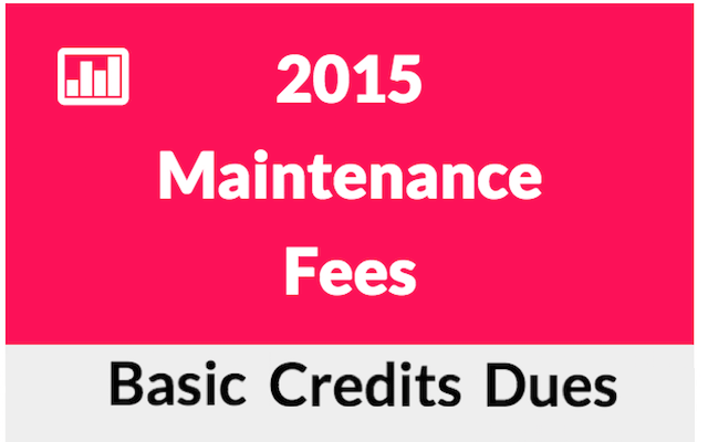wolrdmark maintenance fees schedule chart